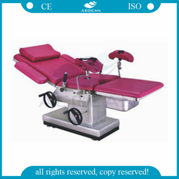 AG-C102D-2 manual hydraulic obstetric bed delivery birthing table