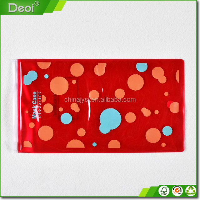 Colorful printing small clear pvc cosmetic zipper bag