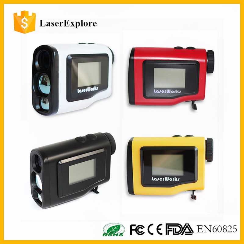 Laser class 1 eyesafe 600m golf range finder 4 colors, golf Laser rangefinder with LCD Screen