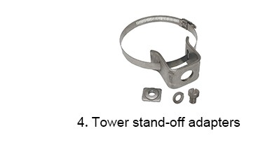 double type feeder clamp for 2 way RG 8/U cable