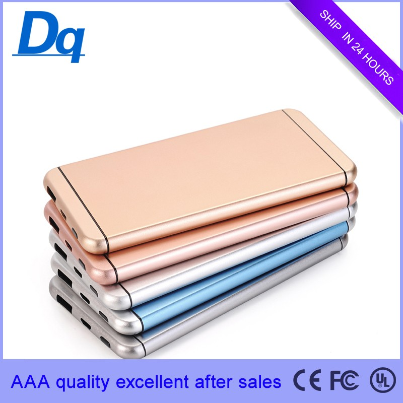 USB Portable Standby Power Supply High quality new innovative charger 5000 mA ultra thin metal mobile power