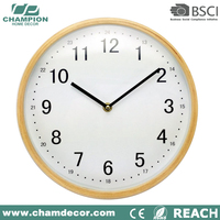 2016 Hot sale mdf wooden wall clock for home decoration