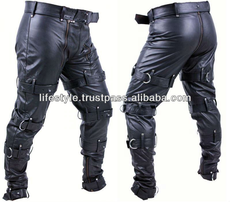 leather pants ladies short leather pant Bondage Trousers Dark Bondage Pants Punk Bondage Trousers