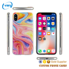 2017 Cell Phone Accessory 2018 OEM IMD Tpu Liquid Cases Mobile Covers 5 6 7 8 X Case For iPhone X Case For iPhone X For iPhone