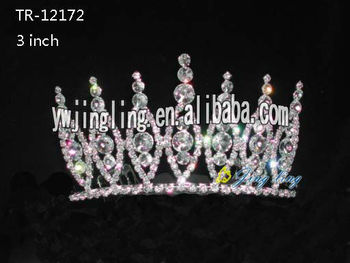 Wholesale colored girls tiara crown