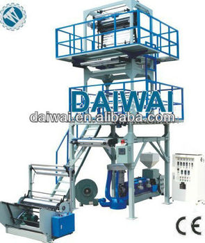 Plastic film extruder machine sale with Double Winder and Rotarhy Die
