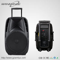 New Design 15 Inch Professional Audio Speaker 80W Portable Stage Loudpeaker Wireless Bluetooth Sound System Box