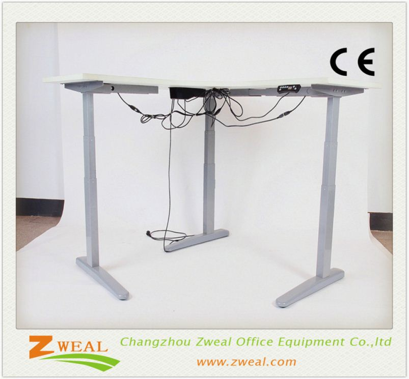 office electric motorized height adjustable table used school desks for sale modern desk with partition/tall