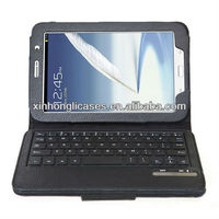 New wireless bluetooth keyboard with leather cover for samsung note 8.0 n5100 case