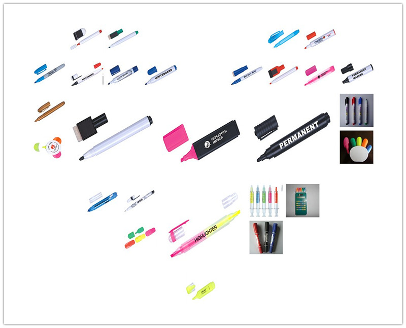 multi-color bullet nib Skin safe whiteboard marker pen