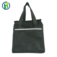 Durable fitness nonwoven insulated lunch cooler bag/New material picnic cooler bag with pocket