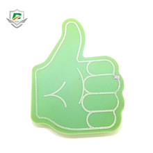 new design cheap sports match thumbs up gesture sponge giant wave foam hand custom cheering gloves