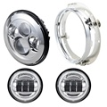 "LOYO full set 7"" inch daymaker headlight + 2 x 4"" inch led fog light + 7inch bracket for jeep"