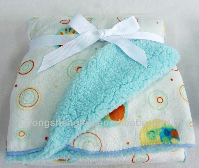baby blanket with plush lamb