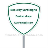 Corrugated plastic security yard signs