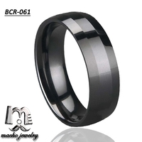 Cheap wholesale jewelry women and men diamond cut facet surface black ceramic ring fashion jewelry