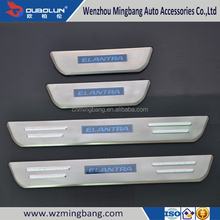Car Accessories Stainless steel LED door sill scuff plate for Hyundai Elantra 2012