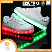 2016 latest dubai men shoes led, hot sell new design sport running light led shoes