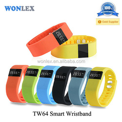 2015 hot!!!!!!!!smart Bracelet TW64 ,Fashion bluetooth 4.0 smart wristband, Health,sport with pedometer
