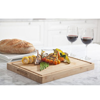 Unique Bamboo Cutting Board, Serving Tray, Large and Thick Natural Wood