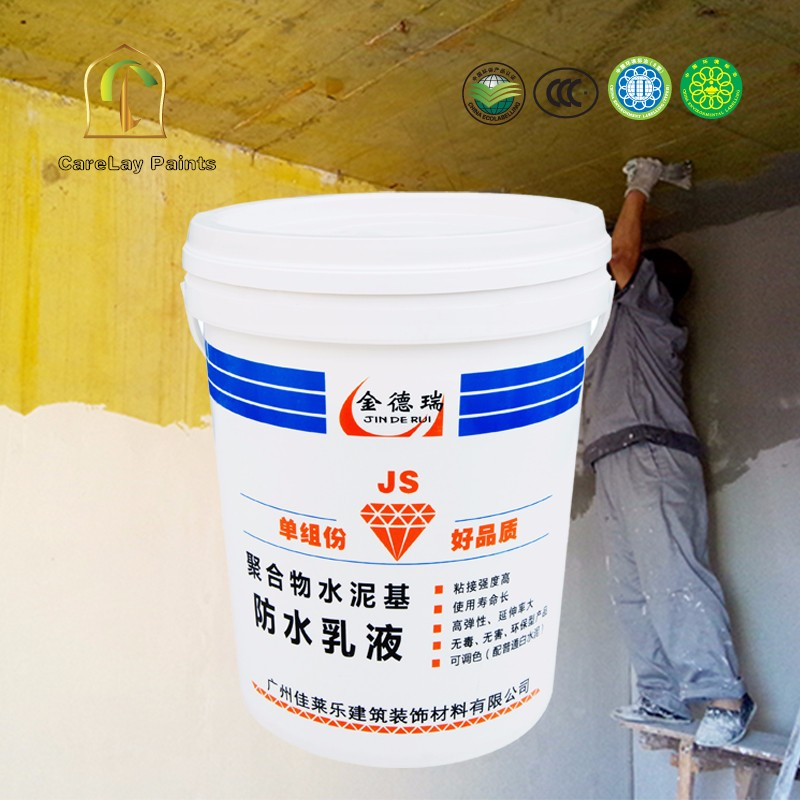 Polymer cement based waterproof spray coating
