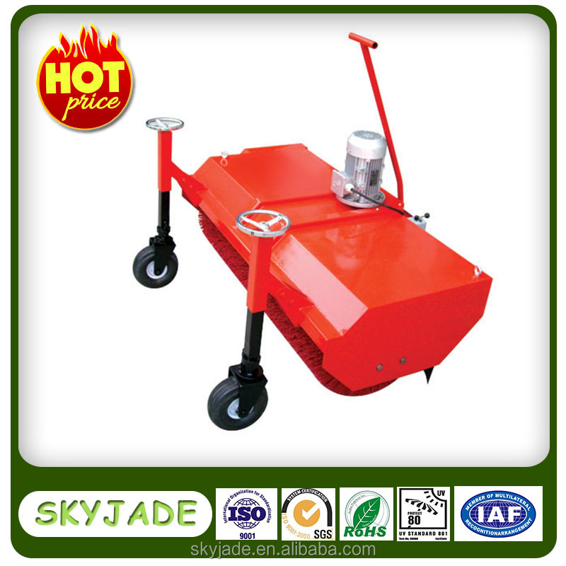 Electric brushing machine for artificial grass installation and maintenance