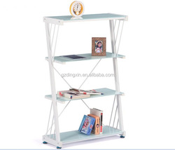 simple design wooden library bookshelf strongest instructions (DX-8909)
