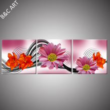Outdoor waterproof wall art Acrylic Painting Landscape Single Flower Painting