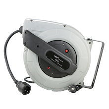 A18 portable 25M garage industrial use electric retractable power cord reel extension cable reel