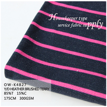 Zhejiang cicheng textile Purple and pink lines design stripe lines terry fabric