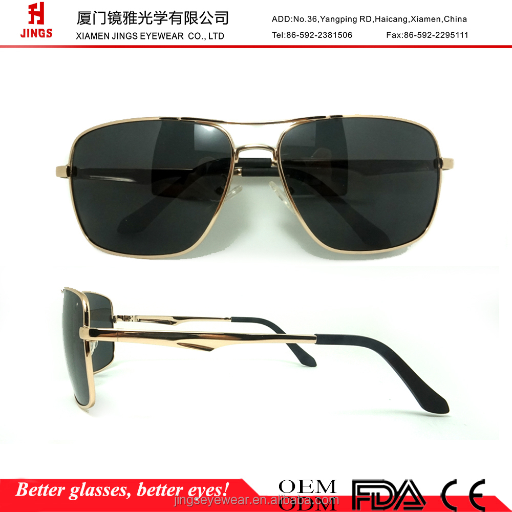 2016 fashion men square metal sunglasses