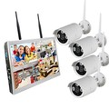 "4chs WIFI 1.0/1.3/2.0 Megapixels NVR KITS with 10.1"" Monitor"