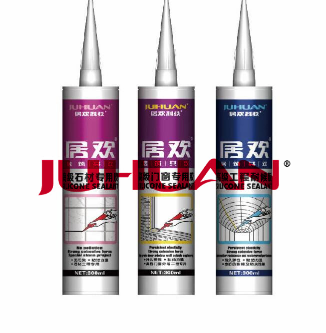 JUHUAN best quality high adhesive concrete stone bathroom and kitchen silicone sealant