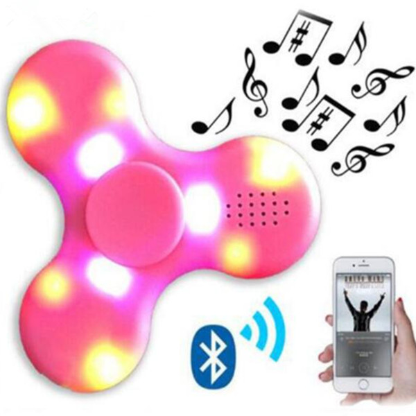 2017 New Arrival Mini Bluetooth Speak Fidget Hand Spinner LED Music Finger toy finger