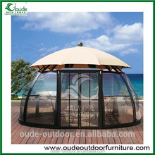 luxuary outdoor glass room