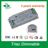 ETL UL SAA TUV approved Constant voltage 2000ma 30w 12v triac dimmable led driver 5 years warranty