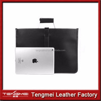 pu Leather Briefcase Messenger Laptop Tablet Office Work Bag Attach Case
