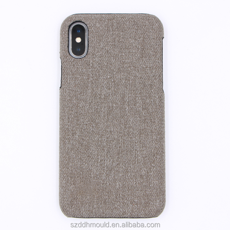 custom fabric cloth phone cover for iphoneX hard canvas phone case for iphone