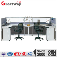 Newest custom made OEM product partition office workstation cubicle for 2 seater(QF-103)