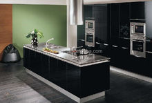 Completed assemble kitchen design models stainless steel countertops