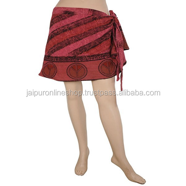 Buy Wrap Around Short Skirts in Jaipur, Rajasthan, India