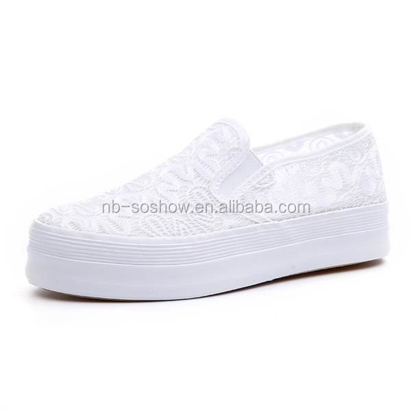 china new design white wholesale canvas shoes view