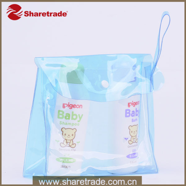 Portable Transparent PVC Mini Wholesale Cosmetic Bag With Small Handle