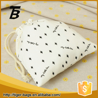 2016 New Sale portable white small canvas drawstring bags