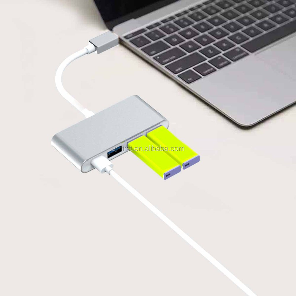 2016 USB Type C Adapter with High Speed Charging 4 Prot Portable USB Type c HUB