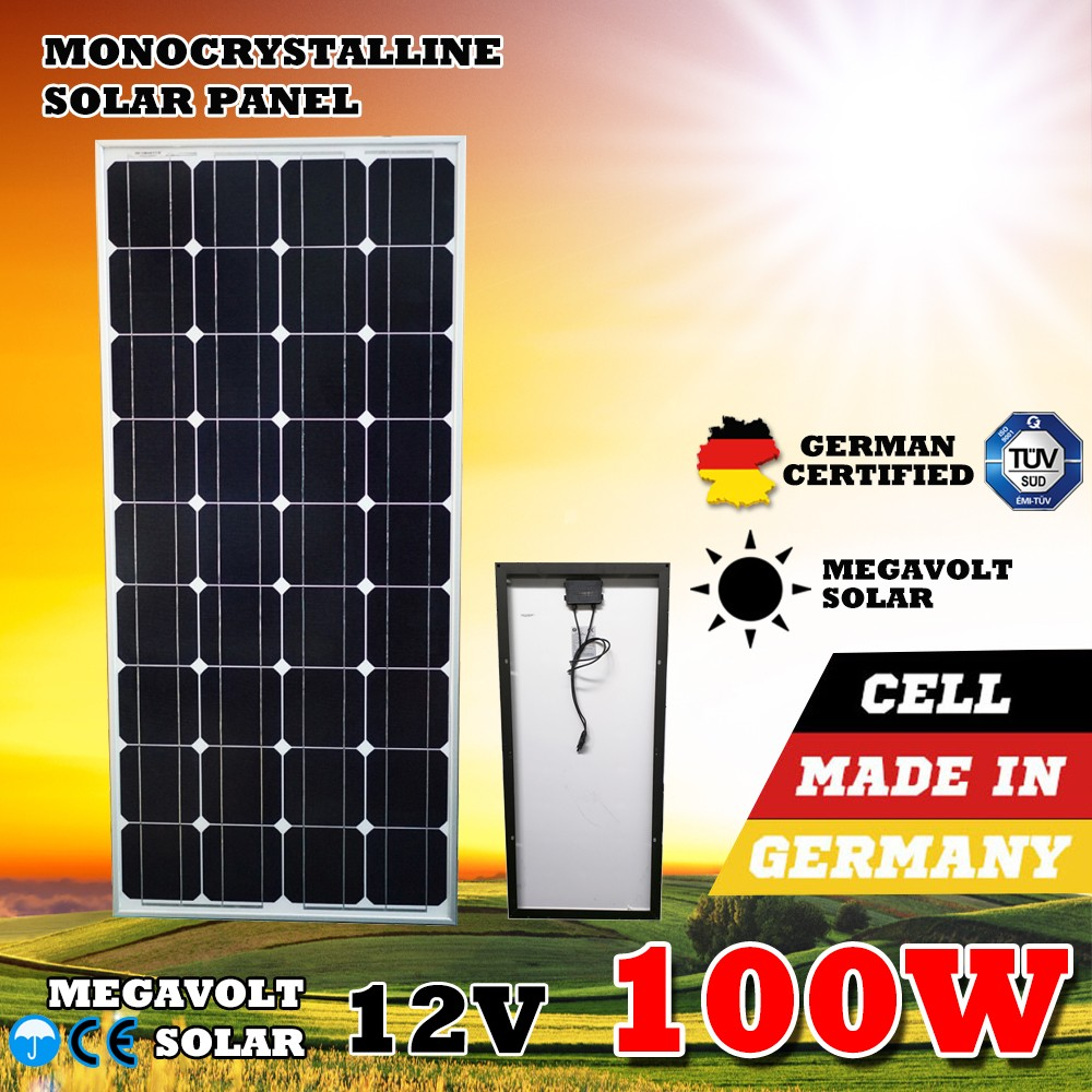 12V Mono Monocrystalline Portable Roof 100W Solar Panel