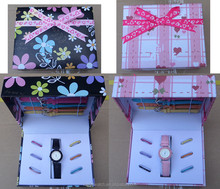 promotion gift ladies interchangeable watch set with box