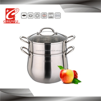 hot new products stainless stock pot with large stainless steel steamer