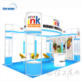 Detian Offer colorful advertising display trade show exhibit display stand booth