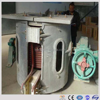 1Ton mini induction melting furnace aluminum smelting equipment